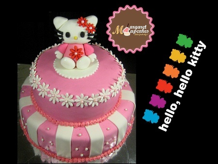 Hello-Kitty-happy-birthday-themed cake
