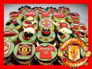 Man-U--themed-birthday- cupcakes