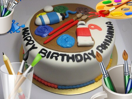 paint-brush-happy-birthday-themed cake