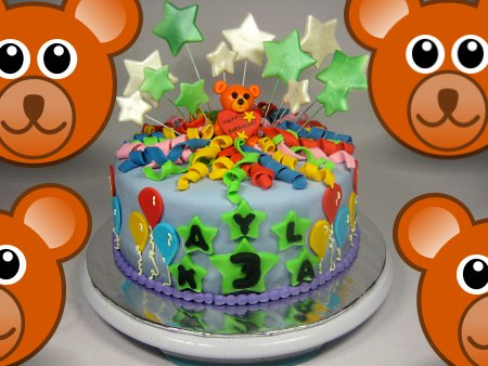 teddy-bear-happy-birthday-themed cake