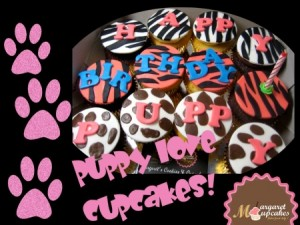 puppy-love-themed-birthday-cupcakes