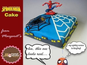 spiderman-happy-birthday-themed cake