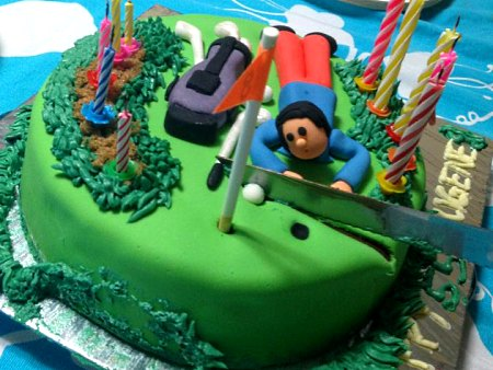 golf-happy-birthday-themed cake