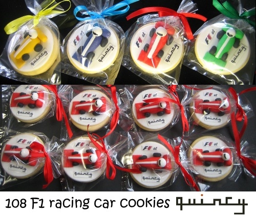 F1 racing car cookies