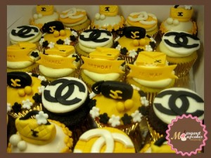 Chanel-happy-birthday-customized-cupcake-order