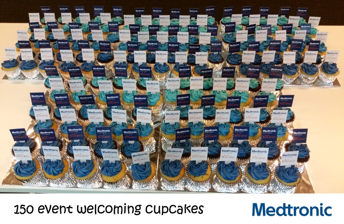 Medtronic 150 event cupcakes