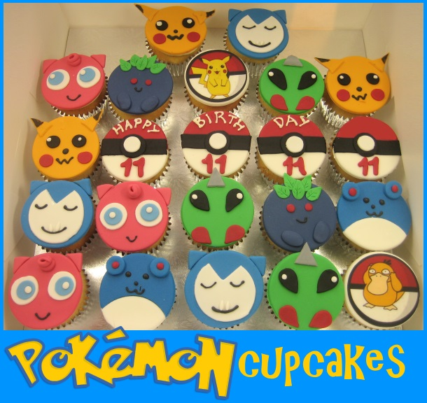 Pokemon birthday cupcakes
