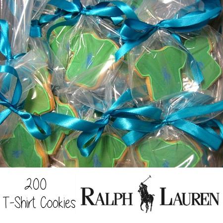 Ralph Lauren T-shirt cookies orange