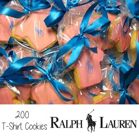 Ralph Lauren T-shirt cookies orange
