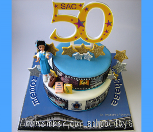 SAC-50 Anniversary-Happy-birthday-themed-cake