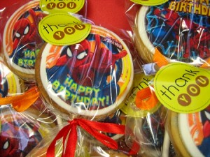 Spiderman-themed-cookies