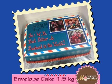 envelope-happy-birthday-themed cake