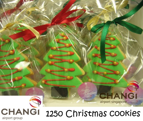 CHANGI AIRPORT GROUP 1250 Christmas cookies