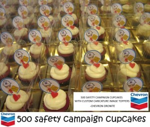 CHEVRON Safety Campaign Cupcakes
