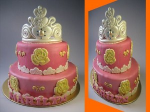crown-princess-Happy-birthday-decorated-cake