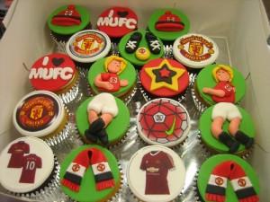 Man U Cupcakes