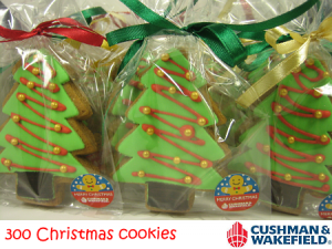 Cushman & Wakefield Christmas Tree Cookies