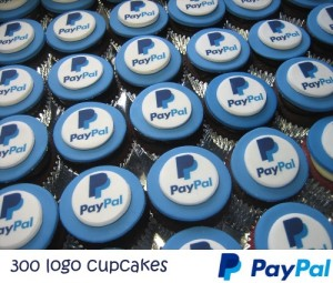 PAYPAL CORPORATE LOGO CUPCAKES