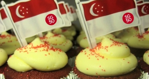 SG50 National Day Cupcakes Cookies