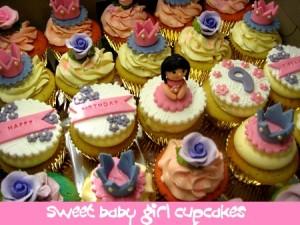 sweet-baby-girl- birthday-upcakes
