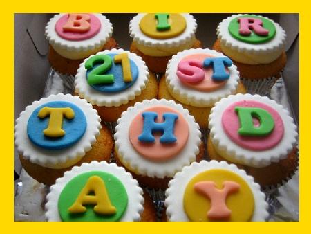 21st-birthday cupcakes