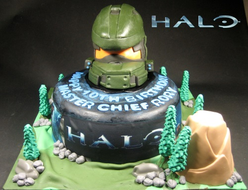 Master Chief Helmet Cake