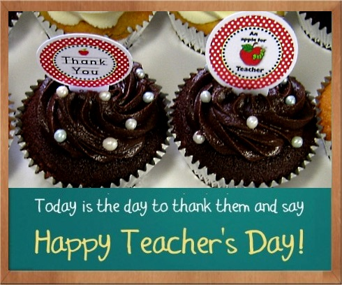 Happy Teacher's Day cupcakes