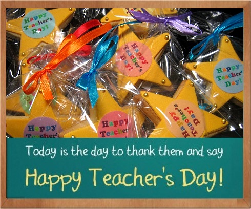 Happy Teacher's Day Cookies