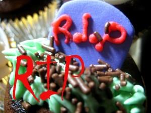 RIP Halloween cupcake