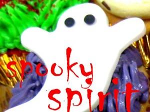 spooky spirit Halloween cupcake