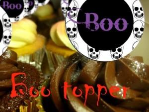 z boo topper Halloween cupcake