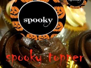 z spooky topper Halloween cupcake