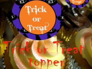 z trick or treat topper Halloween cupcake