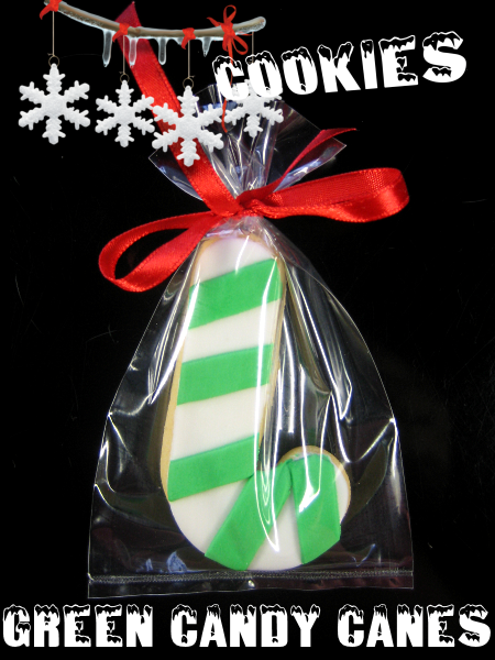 Christmas Cookie Green Candy Canes