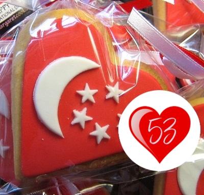 SG53 HEART-SHAPED FLAG
