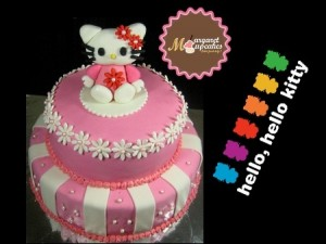 Hello-Kitty-happy-birthday-themed cake