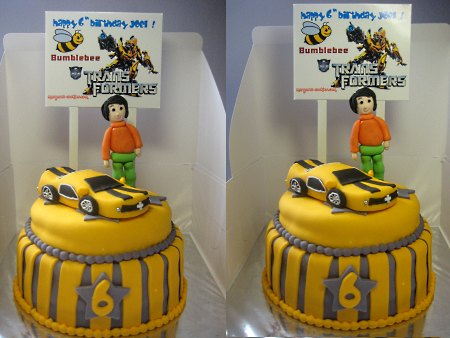 Transformer-happy-birthday-themed cake