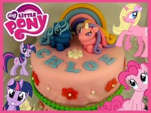 ponies-in-pink-base-happy-birthday-themed cake