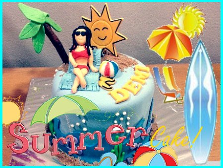 summer-holiday-happy-birthday-themed cake