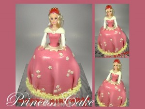 princess-happy-birthday-themed cake
