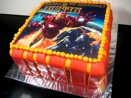 Ironman Happy Birthday Themed Cake