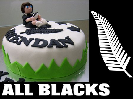 All-black-happy-birthday-themed cake