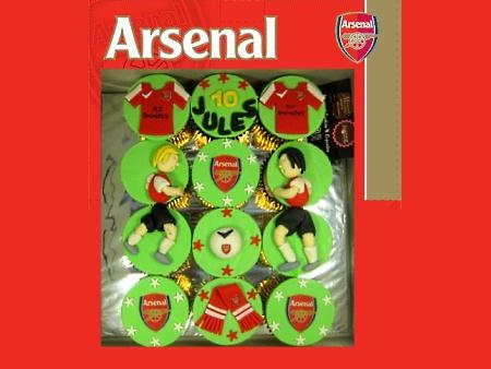 Arsenal-handmade-football-cupcakes