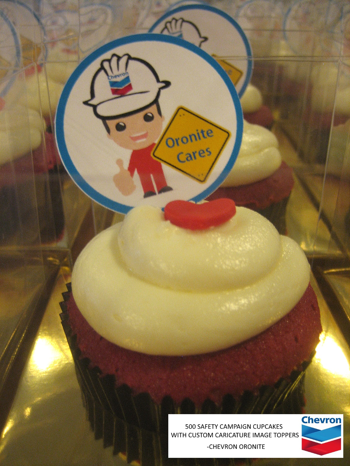 Chevron Safety Campaign Corporate Cupcakes