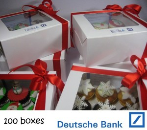 Deutsch Bank cupcakes