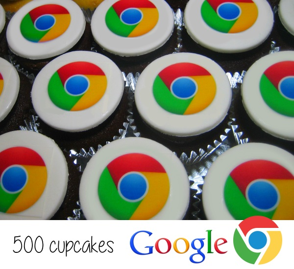 Google Chrome Cupcakes