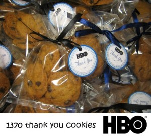 HBO Thank You Cookies