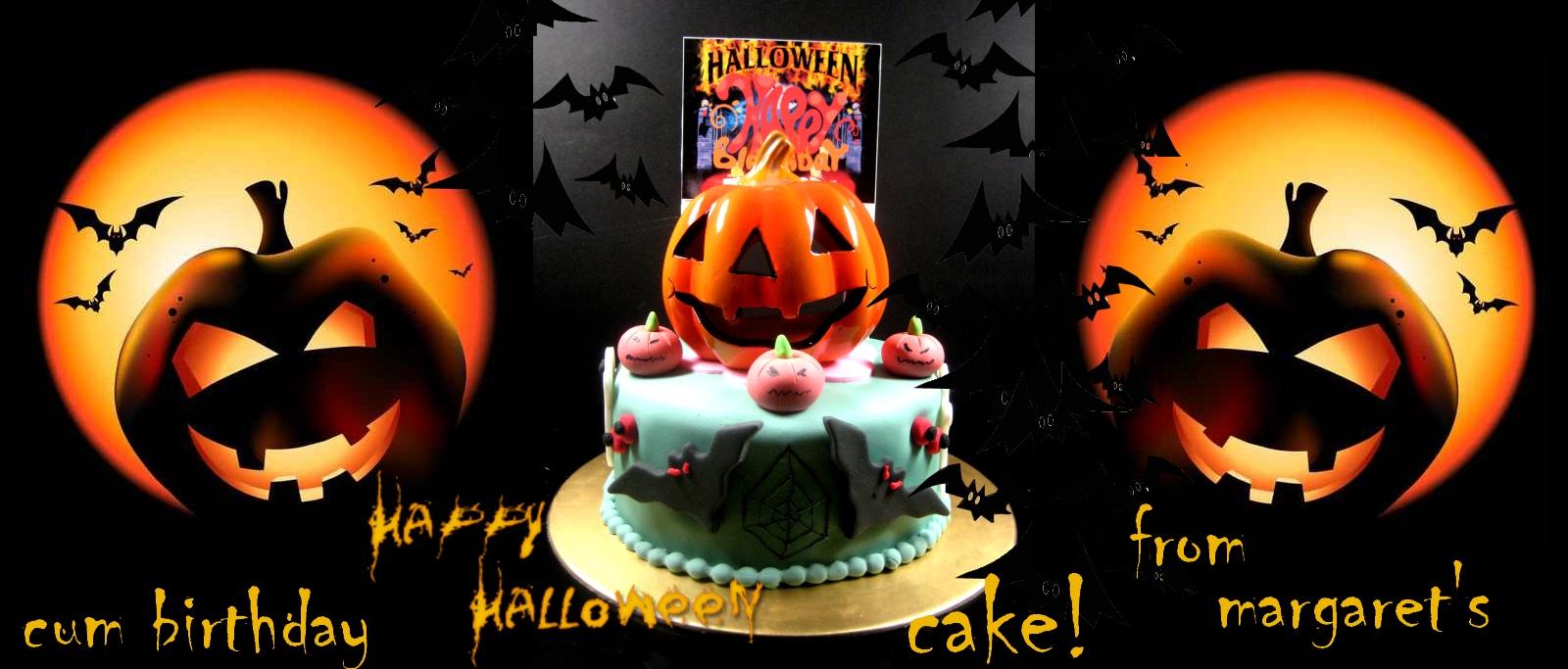 Halloween-Happy-birthday-decorated-cake