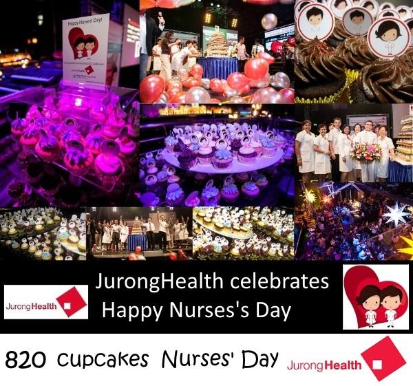 820 Nurses' Day cupcakes