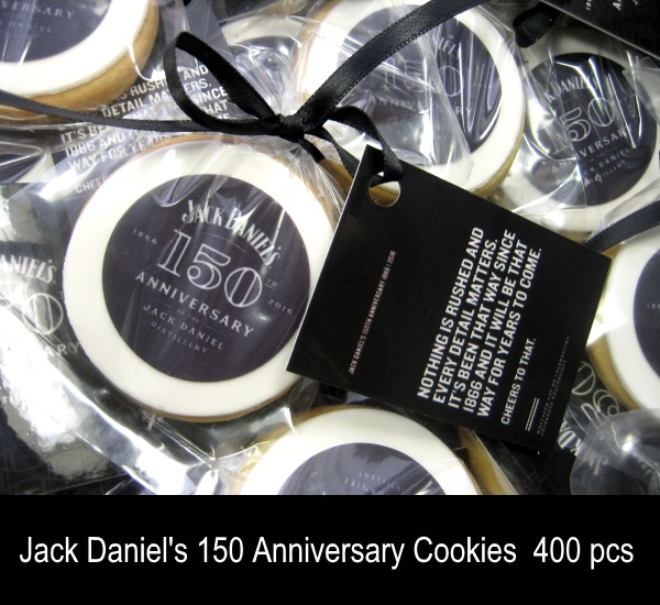 Jack Daniels Cookies with glossy tag double side prints
